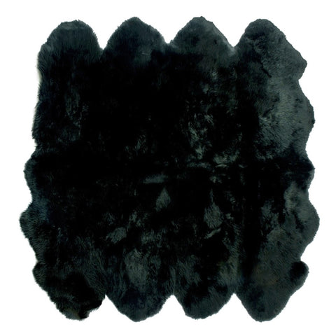 Octo Sheeskin Rug - Black - House of Hide UK Ltd