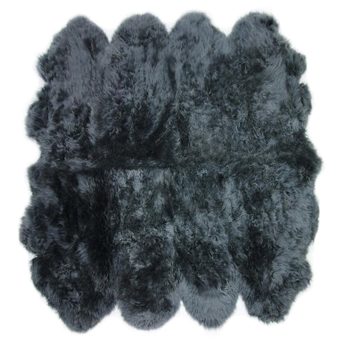 Octo Sheeskin Rug - Dark Grey - House of Hide UK Ltd