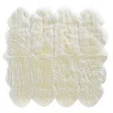 Octo Sheeskin Rug - Ivory - House of Hide UK Ltd