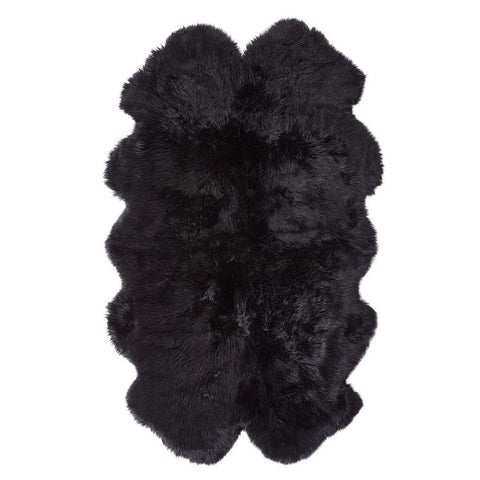 Quad Sheeskin Rug - Black