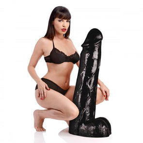 Moby Huge 3 Foot Tall Super Dildo - Black - MyPrivateJoy