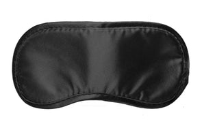 Black Satin Blindfold Mask - MyPrivateJoy