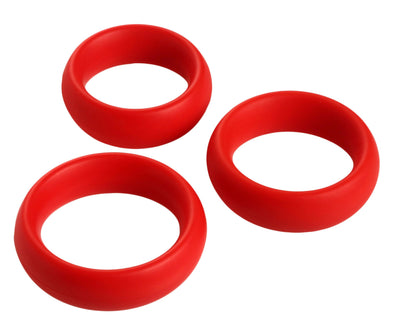 3 Piece Silicone Cock Ring Set - MyPrivateJoy