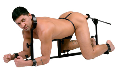 Stockade with Chest Pad and Fucking Rod - MyPrivateJoy