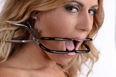Rubber Coated Stainless Steel Jennings Gag - MyPrivateJoy