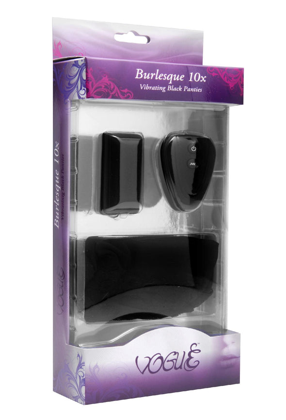 Burlesque 10 Mode Vibrating Panties with Remote - MyPrivateJoy