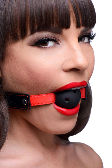Subdue Me Breathable Ball Gag - MyPrivateJoy