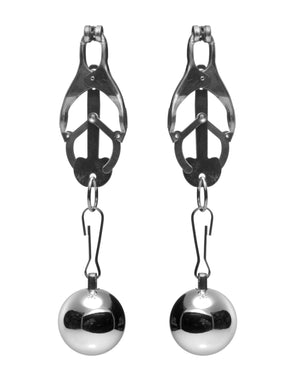 Deviant Monarch Weighted Nipple Clamps - MyPrivateJoy