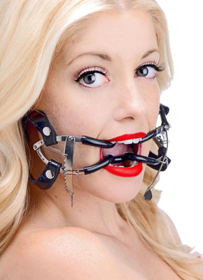 Ratchet Style Jennings Mouth Gag with Strap - MyPrivateJoy