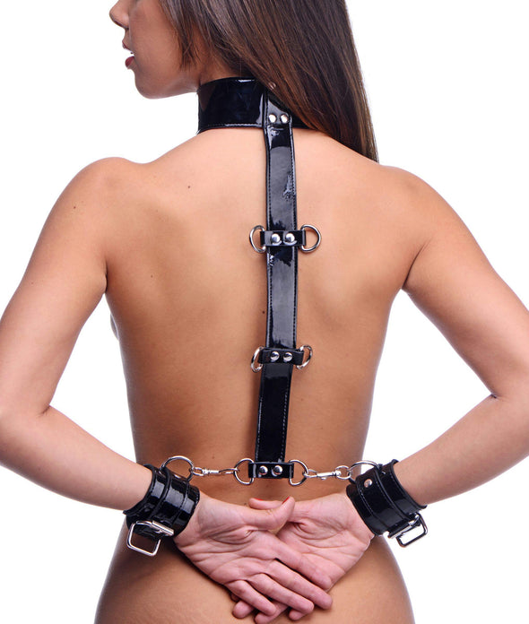 Bound Around Neck to Wrist Restraints - MyPrivateJoy