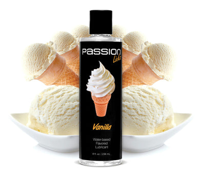 Passion Licks Vanilla Water Based Flavored Lubricant - 8 oz - MyPrivateJoy