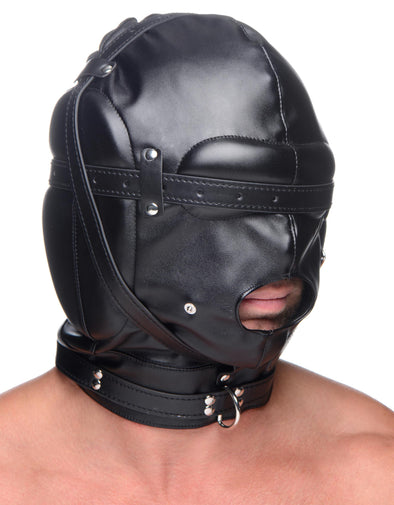 Bondage Hood with Breathable Ball Gag - MyPrivateJoy