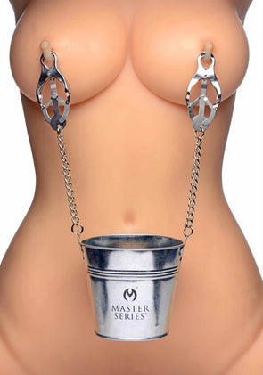 Slave Bucket Labia and Nipple Clamps - MyPrivateJoy
