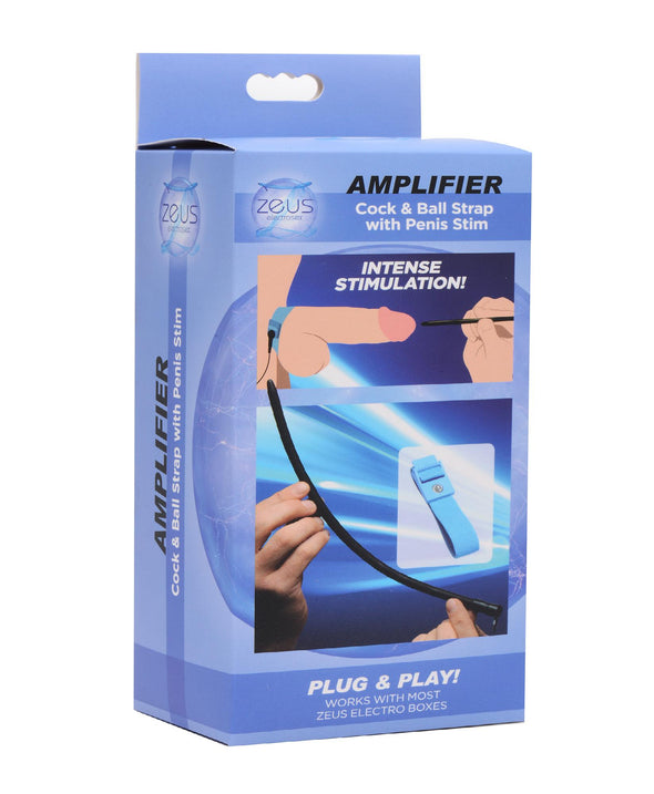Amplifier Cock and Ball Strap with Penis eStim - MyPrivateJoy