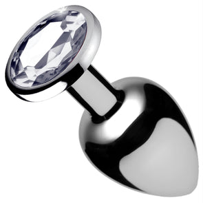 Clear Gem Anal Plug- Medium - MyPrivateJoy