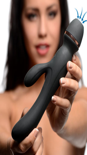 Shegasm Supreme 3 in 1 Silicone Suction Rabbit Vibe - MyPrivateJoy