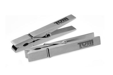 Tom of Finland Bros Pin Stainless Steel Nipple Clamps - MyPrivateJoy