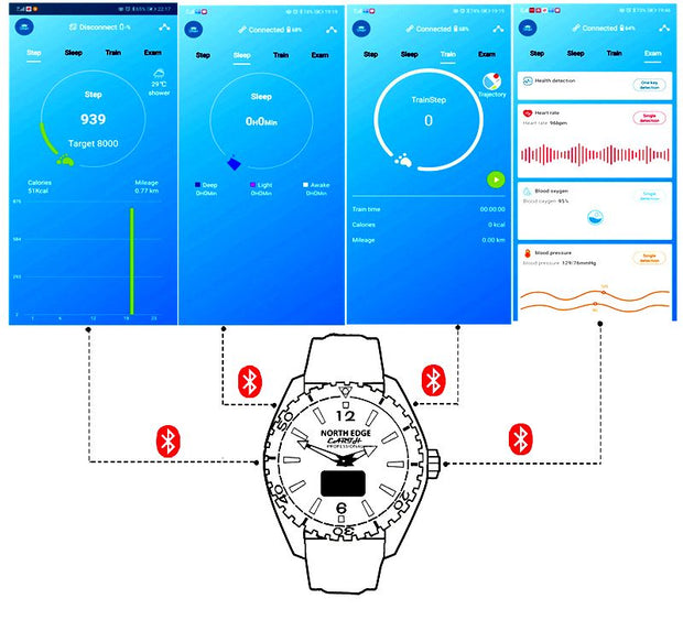 Smart watch FLOAT TOUCH écran tactile, 50 m étanche