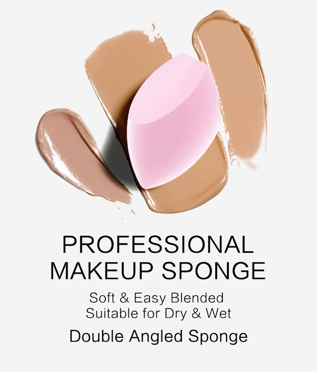 éponge maquillage angle double