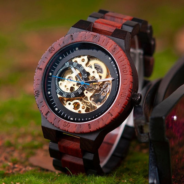 Luxurious Automatic Mechnical Wooden Watch