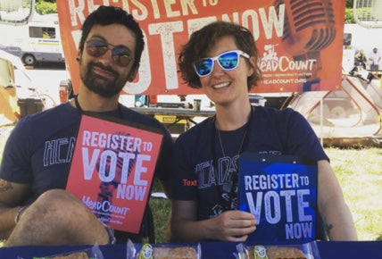 How We're Partnering with Headcount to Rock the Vote