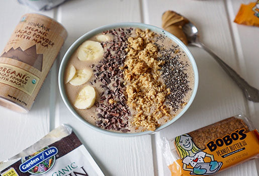 Peanut Butter & Banana Chocolate Smoothie Bowl