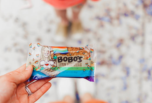 random acts of kindness changes this little girls day when she receives a Bobo's Oat Bar