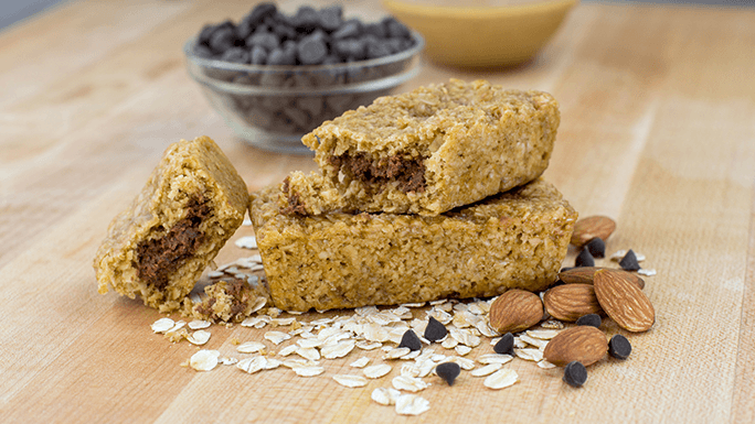 Chocolate Almond Butter Stuff'd Oat Bar