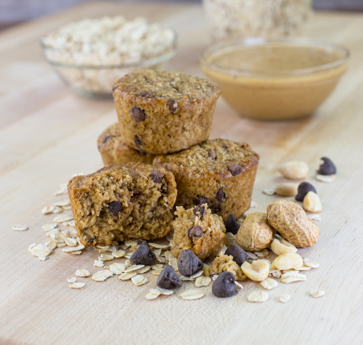 Peanut Butter Chocolate Chip Oat Bites lifestyle image