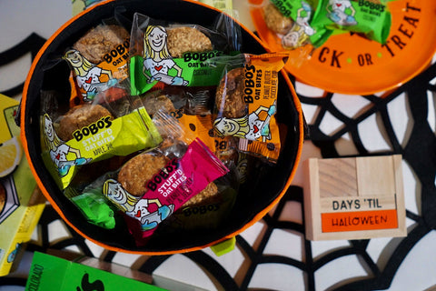 Bobo's Oat Bites make a great Halloween Treat.