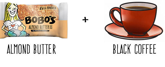 Almond Butter Oat Bar and Coffee