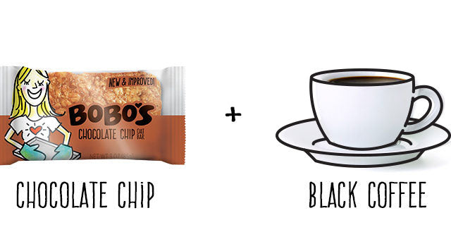 Chocolate Chip Oat Bar and Black Coffee