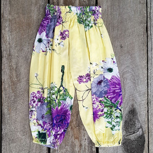 Beachside Boho Pants - Lemon Mauve