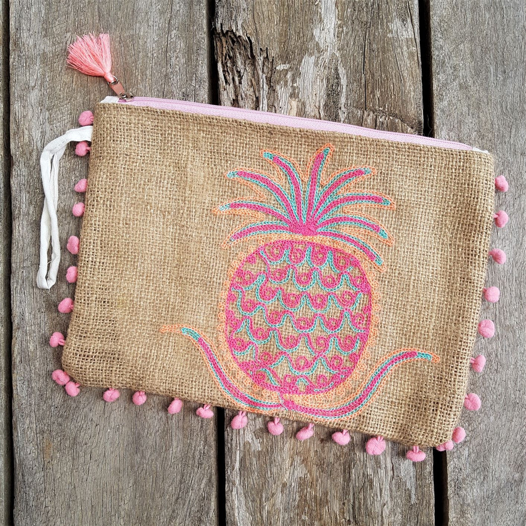 Embroidered Bag - Pineapple