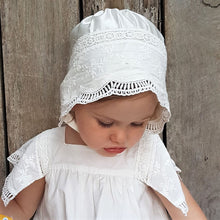 Embroidered Lace Bonnet - Ivory