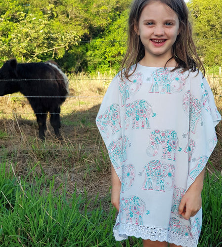 Illusion Kaftan - Elephant Print