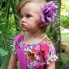 Tropical Pom Pom  Dress - Pink
