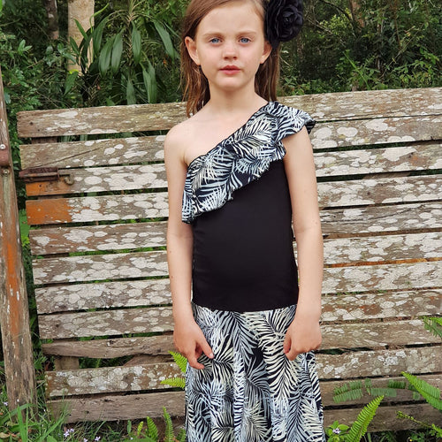 Lush Maxi Dress - Onyx Tropical