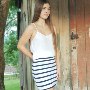 Classic Stretch Skirt - Nautical