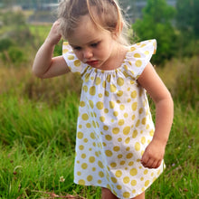 Summer Dress - Mustard Dots