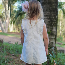 Cotton Tunic Dress - Embroidered White