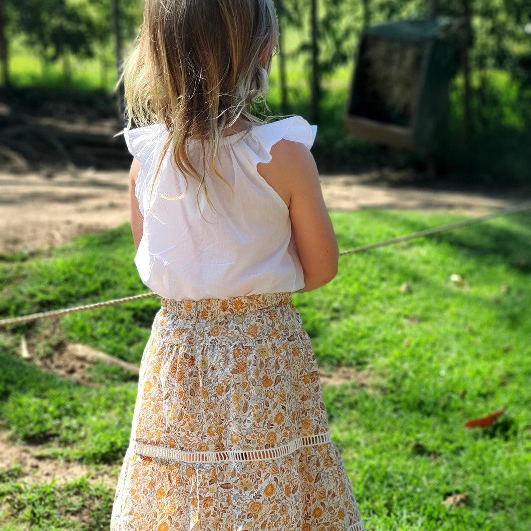 Cotton Maxi Skirt - Autumn