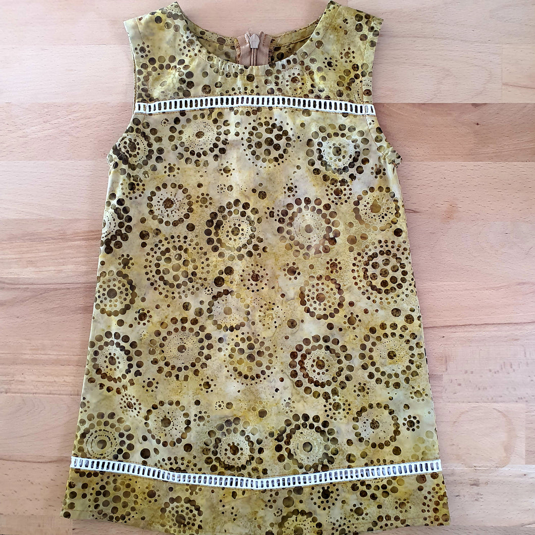 Cotton Tunic Dress - Mustard Batik