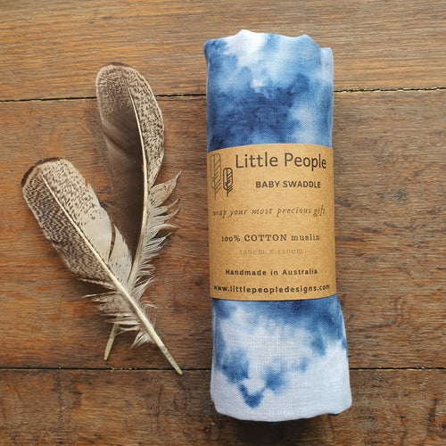 Muslin Swaddle - Midnight Blue - Extra Large