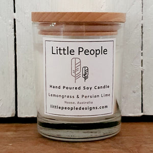 Hand Poured Soy Candle - Lemongrass and Persian Lime