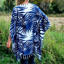 Ladies Kimono Jacket - Tropical Blue