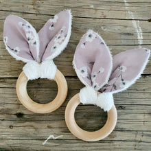 Bunny Ears Teething Ring - Maybe Bloom