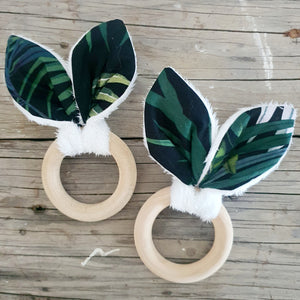 Bunny Ears Teething Ring - Tropical