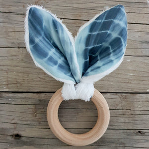 Bunny Ears Teething Ring - Tie Dye
