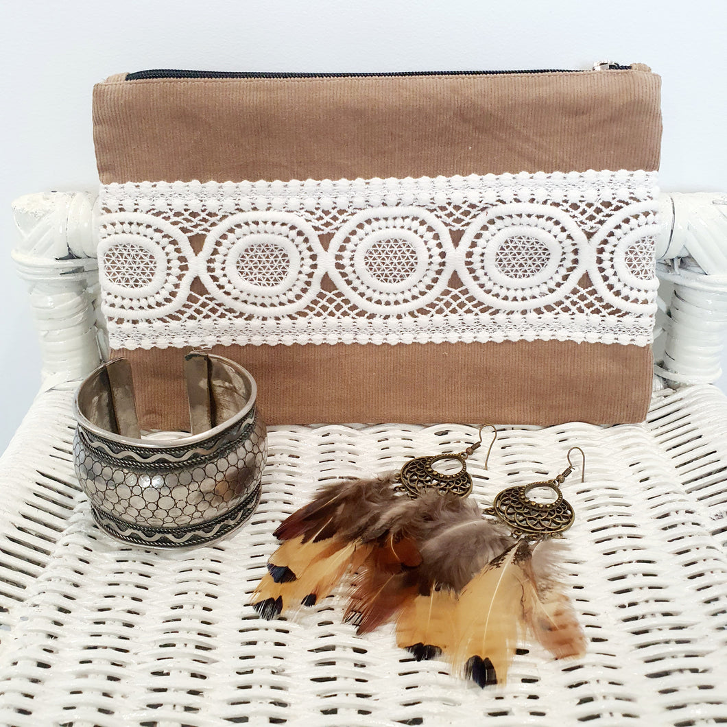 Boho Lace Bag - Tan